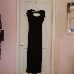 Rolla Costa maxi dress, black with capped sleeves.